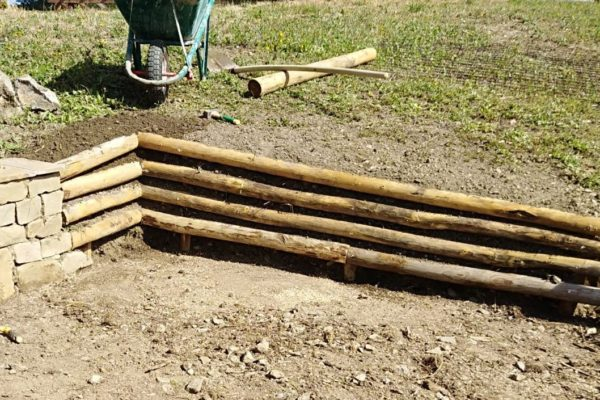 Graticcio in legno per contenimento terra